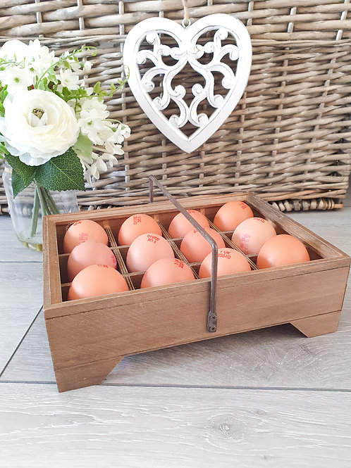 Farmhouse Egg Caddy With Handle