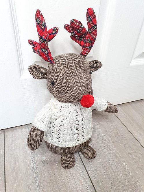 Festive Rudolf Reindeer Doorstop