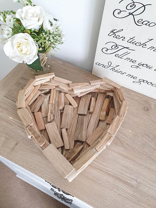 Heart Shaped Drift Wood Tray
