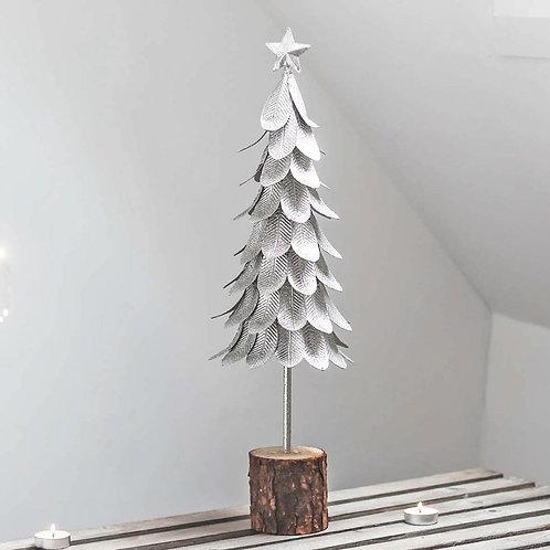 Silver Metal Christmas Tree Figure