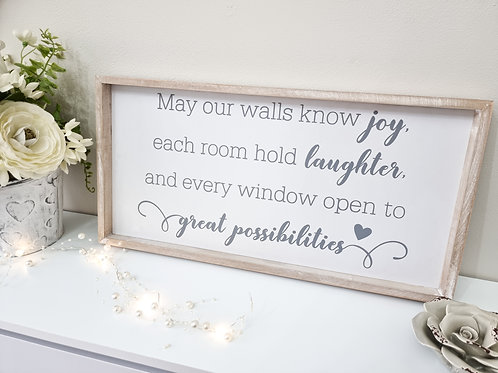 Great Possibilities Framed Heart Plaque