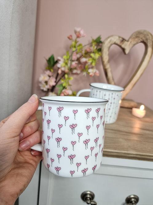 White & Pink Sweet Heart Mug