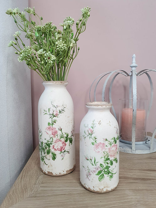 Cream Darcey Floral Rose Bottle