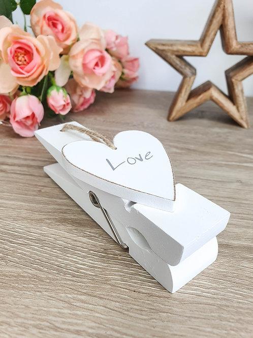 White Love Wall Peg