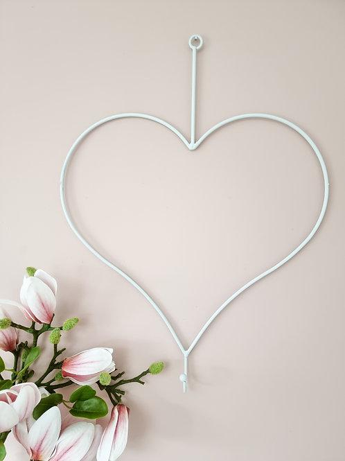 White Heart Wire Wall Hook