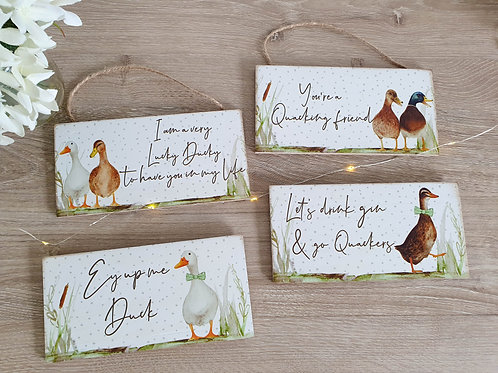 Duck Inspired Hanging Plaques