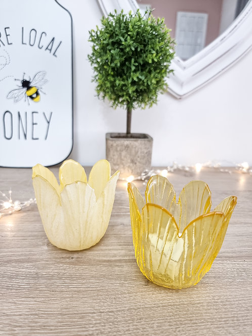 Summer Yellow Tulip Candle Holder