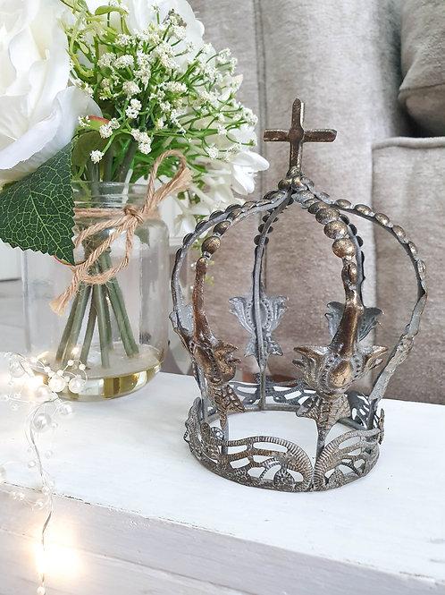Bronze Antique Style Crown Decoration
