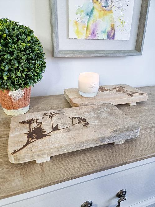 Natural Mango Wood Floral Board