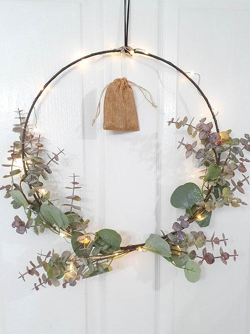 Light Up Eucalyptus Foliage Loop Wreath