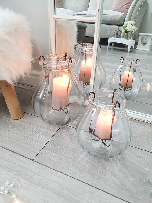 Simplicity Glass Hurricane Candle Holder