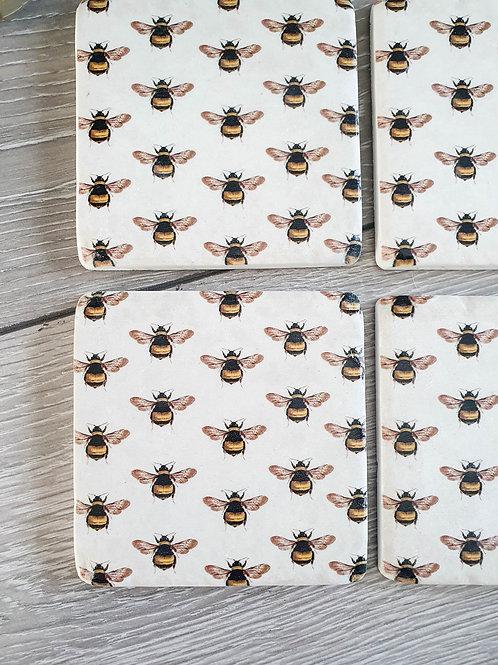 Beautiful Ceramic Bee Coasters