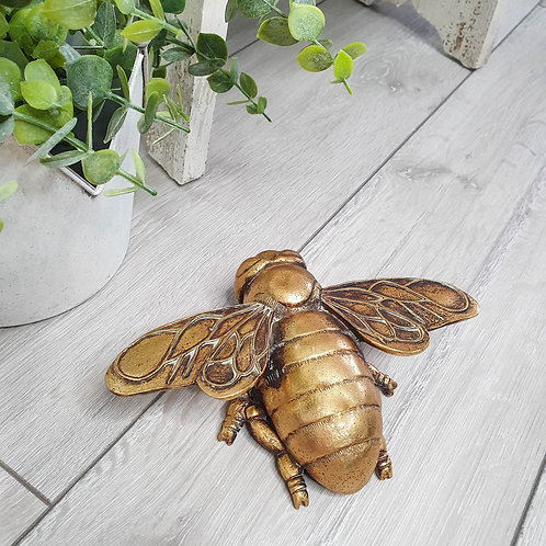 Gold Bee Wall Decoration