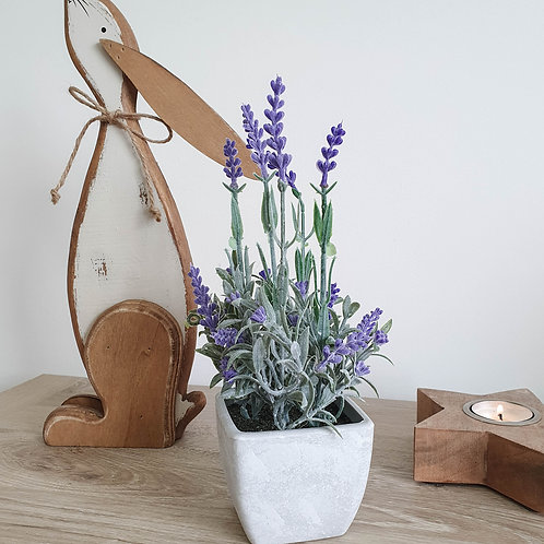 Faux Potted Lavender Plant