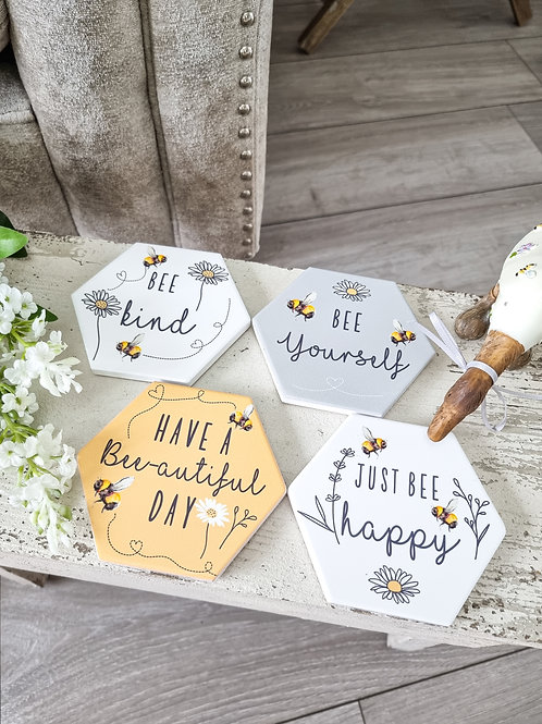 Positive Bee Inspired Coaster