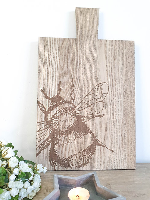 Light Wooden Bee Serving Board