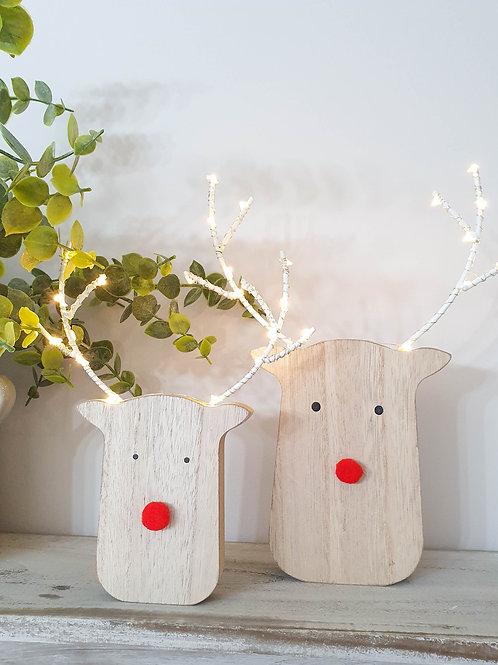 Rudolf Pom Pom LED Decoration