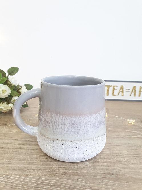 Dove Grey Ombre Glazed Mug