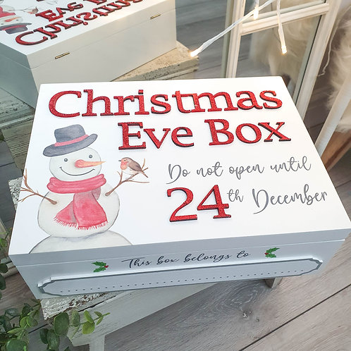 White Snowman Christmas Eve Box