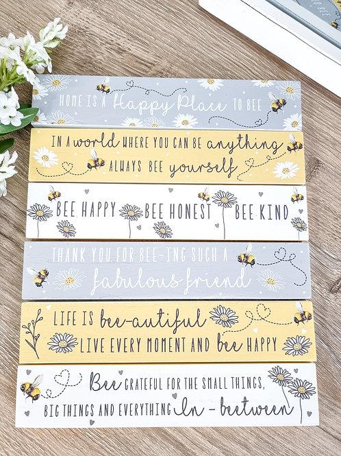 Positive Inspired Mini Bee Block