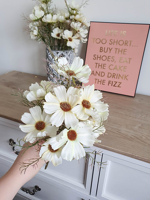Vintage Cream Cosmos Bunch