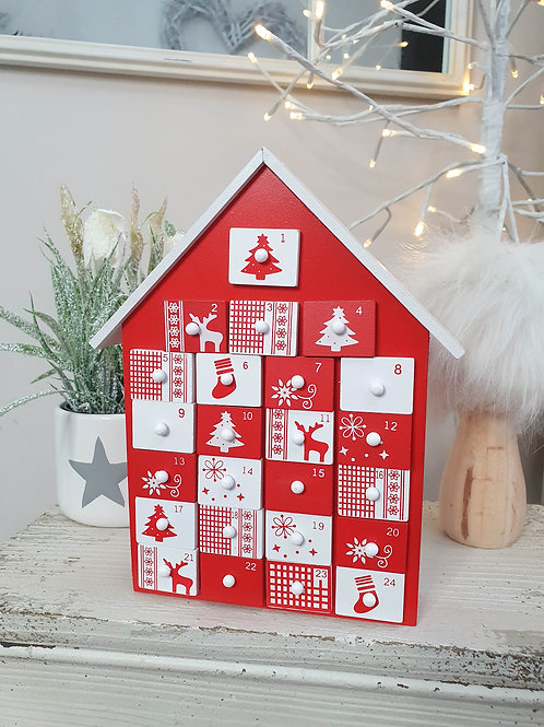 Red & White Mini Advent House