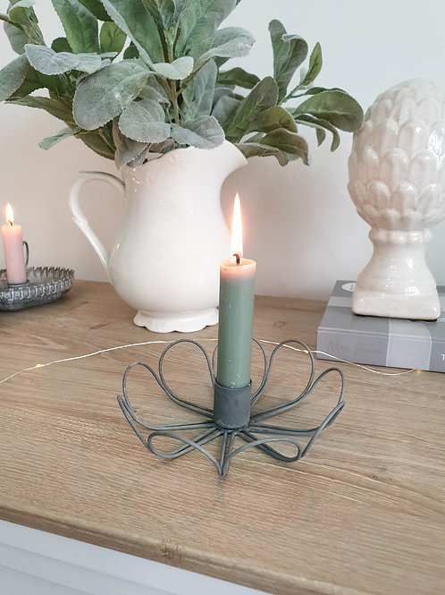 Iron Flower Inspired Candle Holder