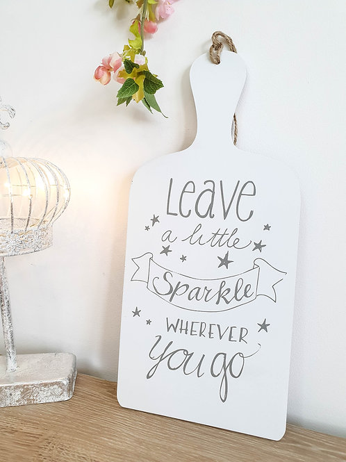 Leave A Little Sparkle Star Plaque **IMPERFECT**