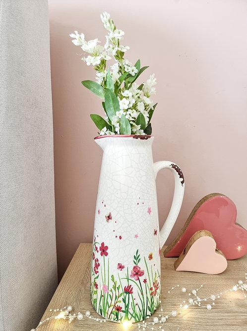 Spring Meadow Pink Floral Jug