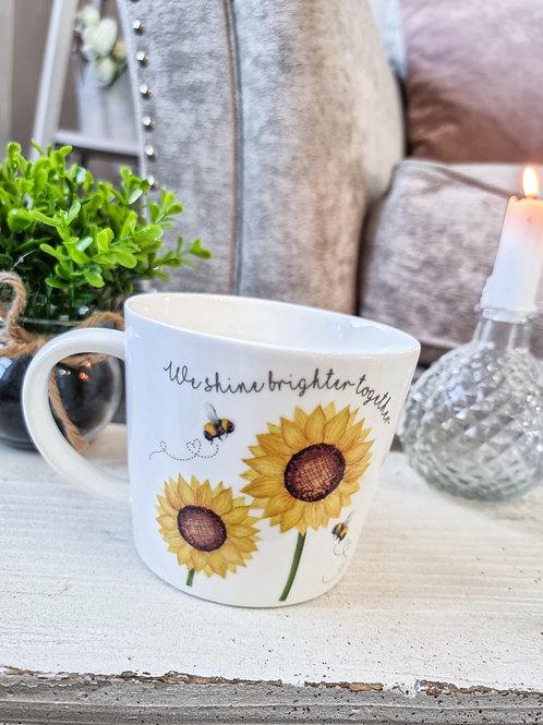Brighter Together Sunflower Mug