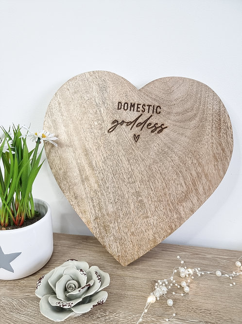 Domestic Goddess Natural Heart Board
