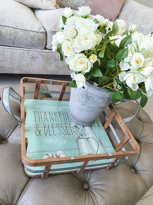 Floral Home Rattan Trays