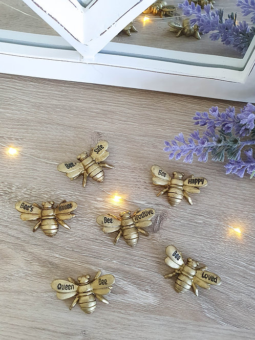 Miniature Gold Bee Charms