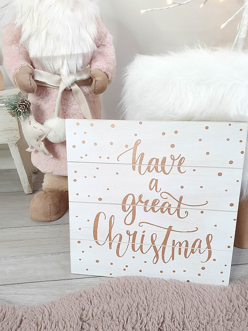 Rose Gold Great Christmas Plaque