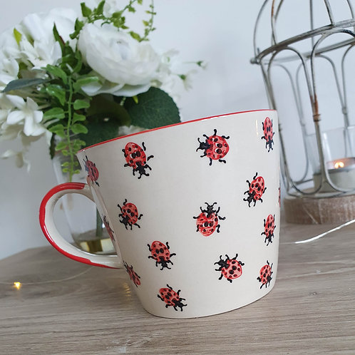 Hand Painted Summer Ladybird Mug