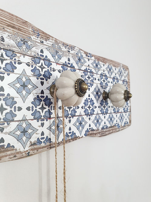 Vintage Inspired Wall Panel With Hooks