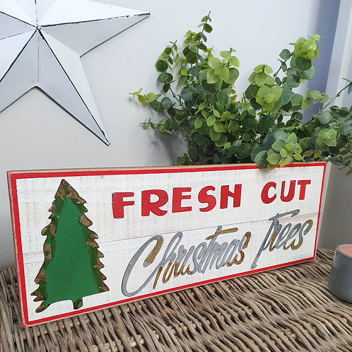 Vintage Style Christmas Plaque
