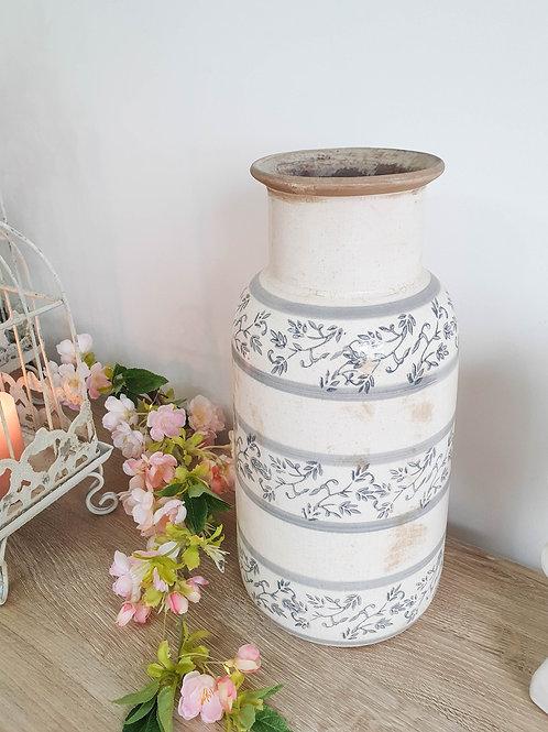 Vintage Floral Ceramic Vase