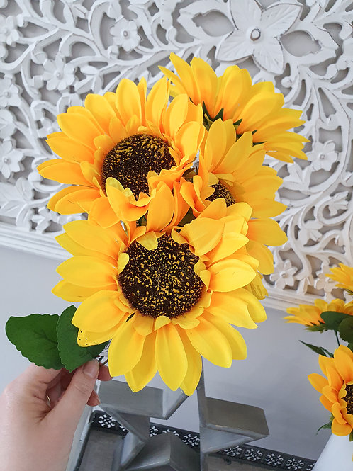 Faux Sunflower Bunch