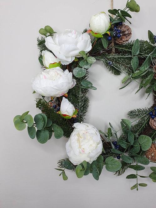 Peony & Eucalyptus Foliage Wreath