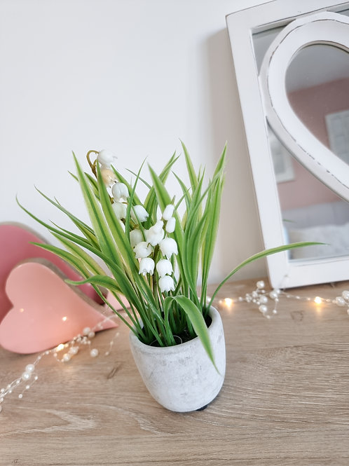 Mini White Lily Of The Valley Faux Flower