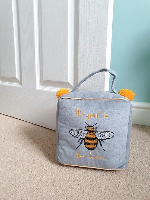 Bee Home Mustard Pom Pom Doorstop