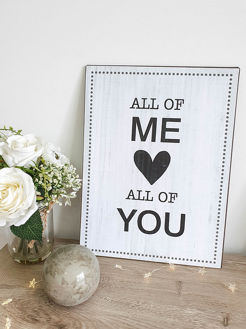 All Of Me Heart Metal Plaque