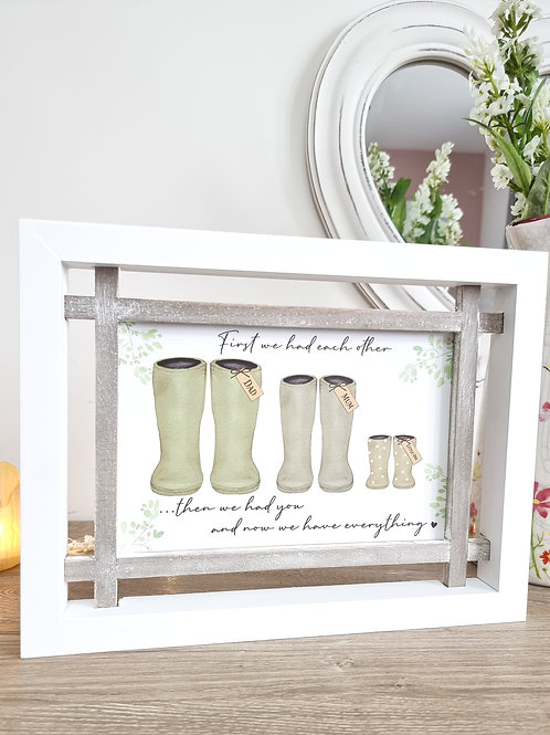Sage 'Then We Had You' Family Plaque