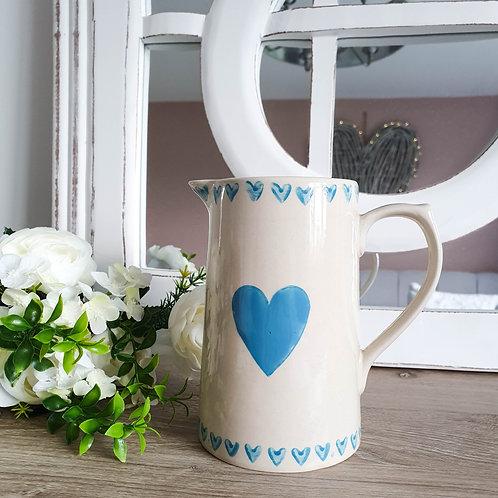 Shabby Chic Blue Heart Jug