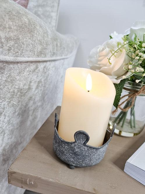 Natural Flickering Flame LED Pillar Candle