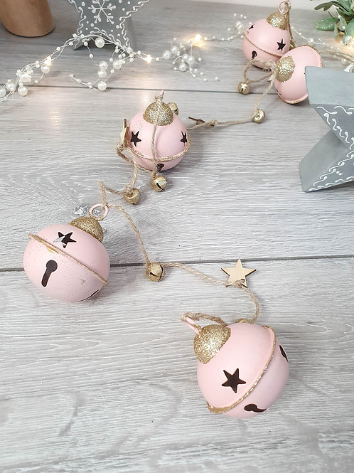 Blush Pink Jingle Bells Garland