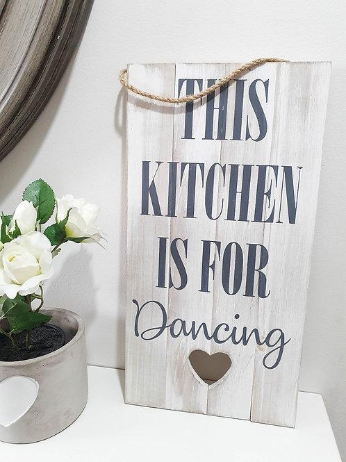 White Wash Kitchen Heart Plaque