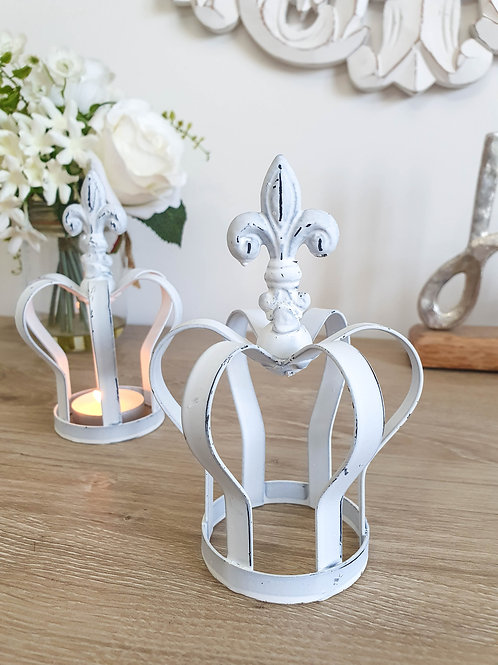 White Decorative Metal Crown