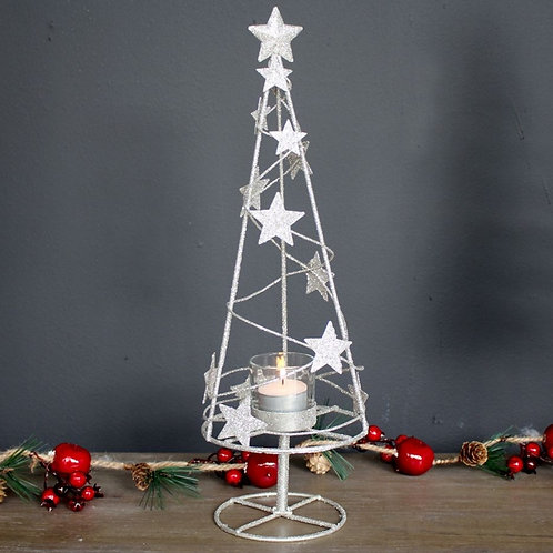 Starry Christmas Tree Candle Holder